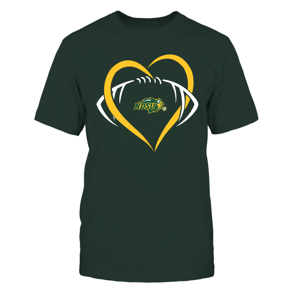 North Dakota State Bison - Large Heart - Football - Team Front picture
