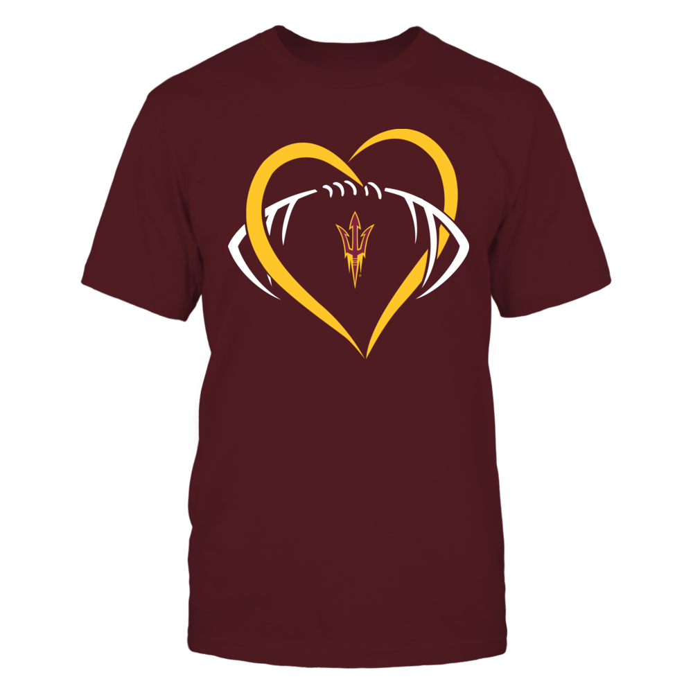 Arizona State Sun Devils - Large Heart - Football - Team Front picture