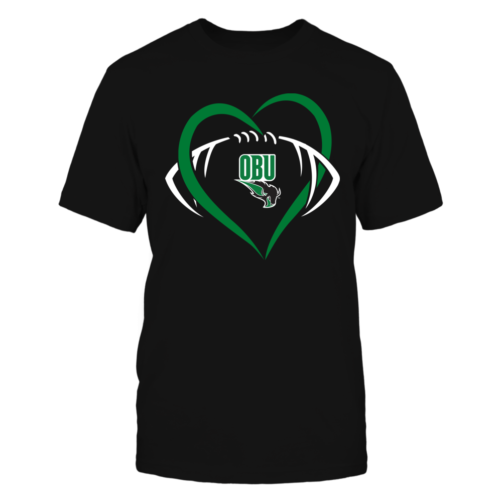 Oklahoma Baptist Bison - Large Heart - Football - Team Front picture