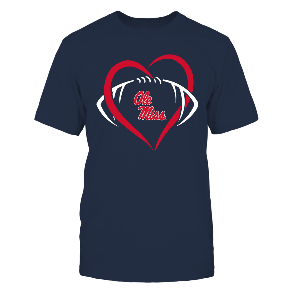 Ole Miss Rebels - Large Heart - Football - Team Front picture