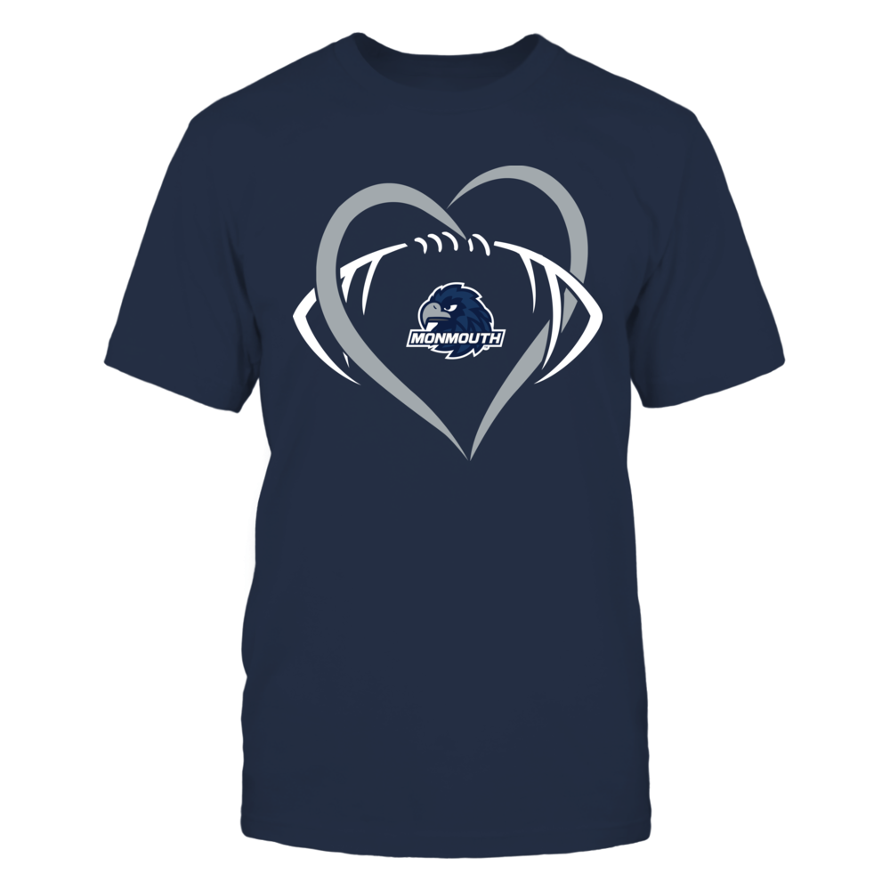 Monmouth Hawks - Large Heart - Football - Team Front picture