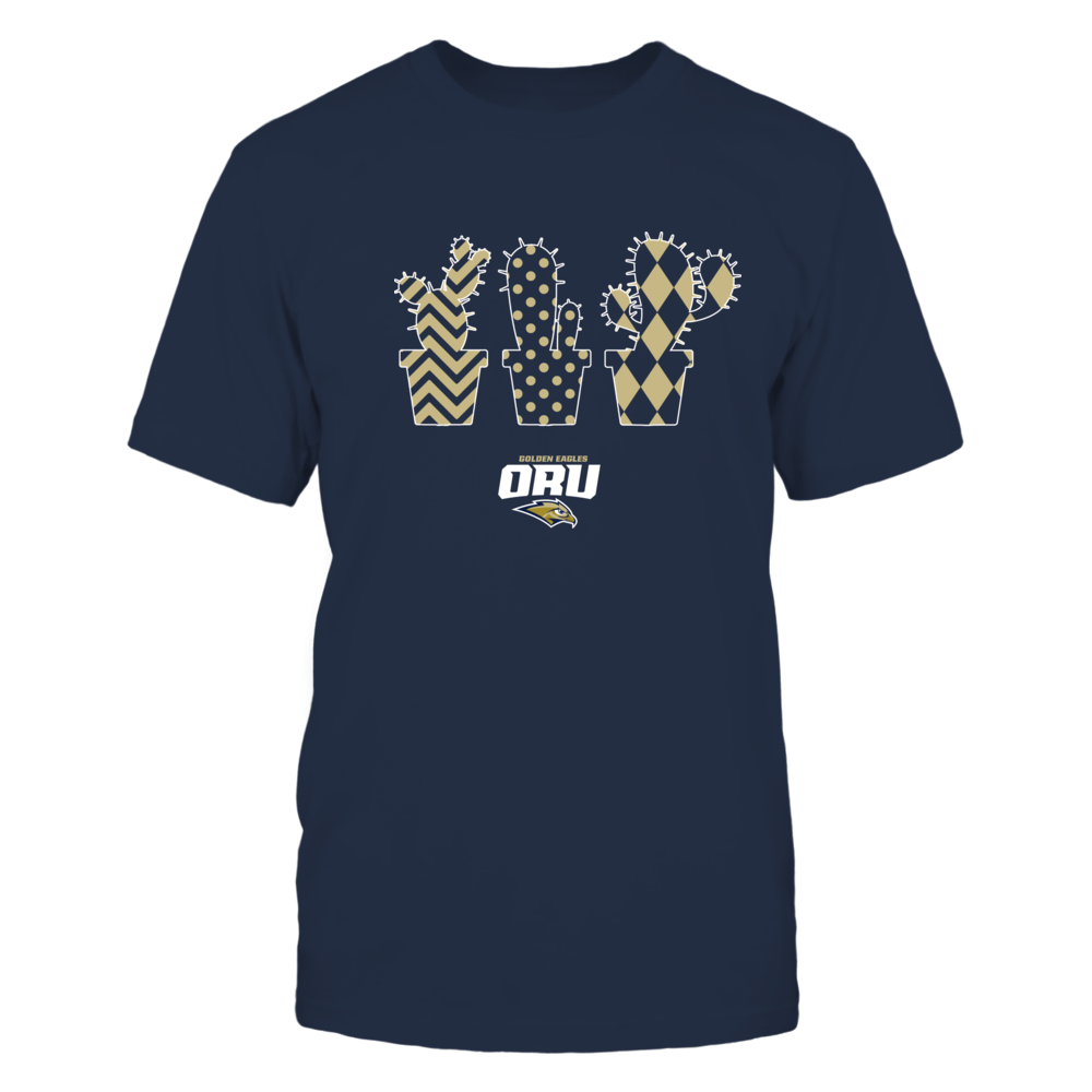 Oral Roberts Golden Eagles - Patterned Cactus Pots - Team Front picture