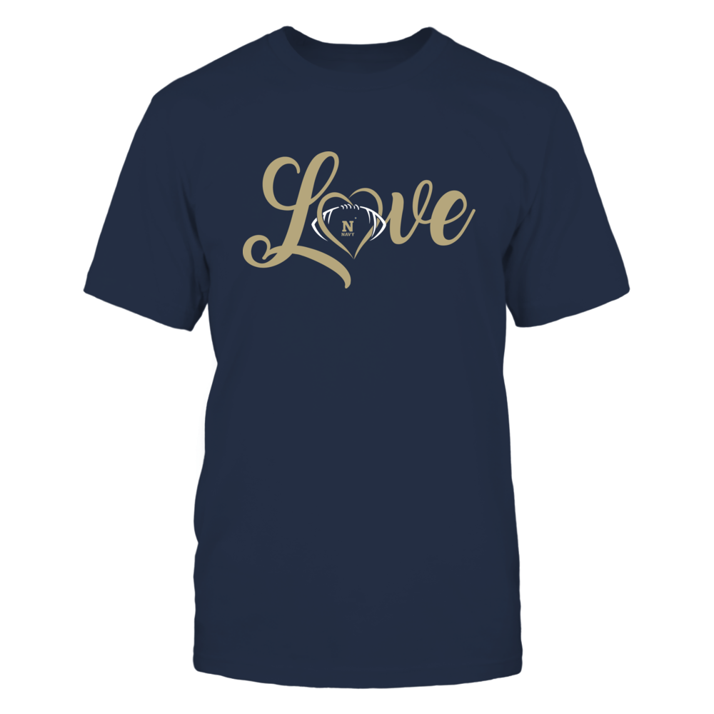 Navy Midshipmen - Love Heart - Football - Team Front picture