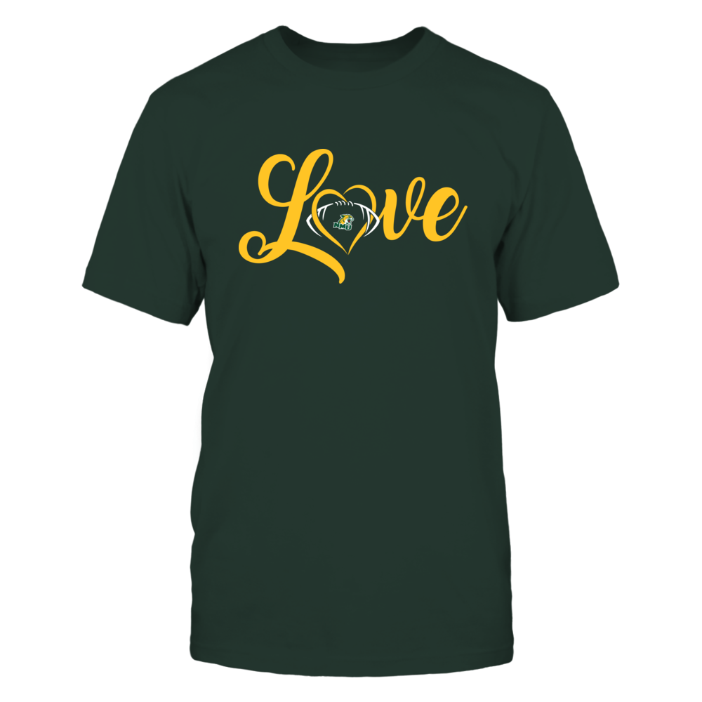 Northern Michigan Wildcats - Love Heart - Football - Team Front picture