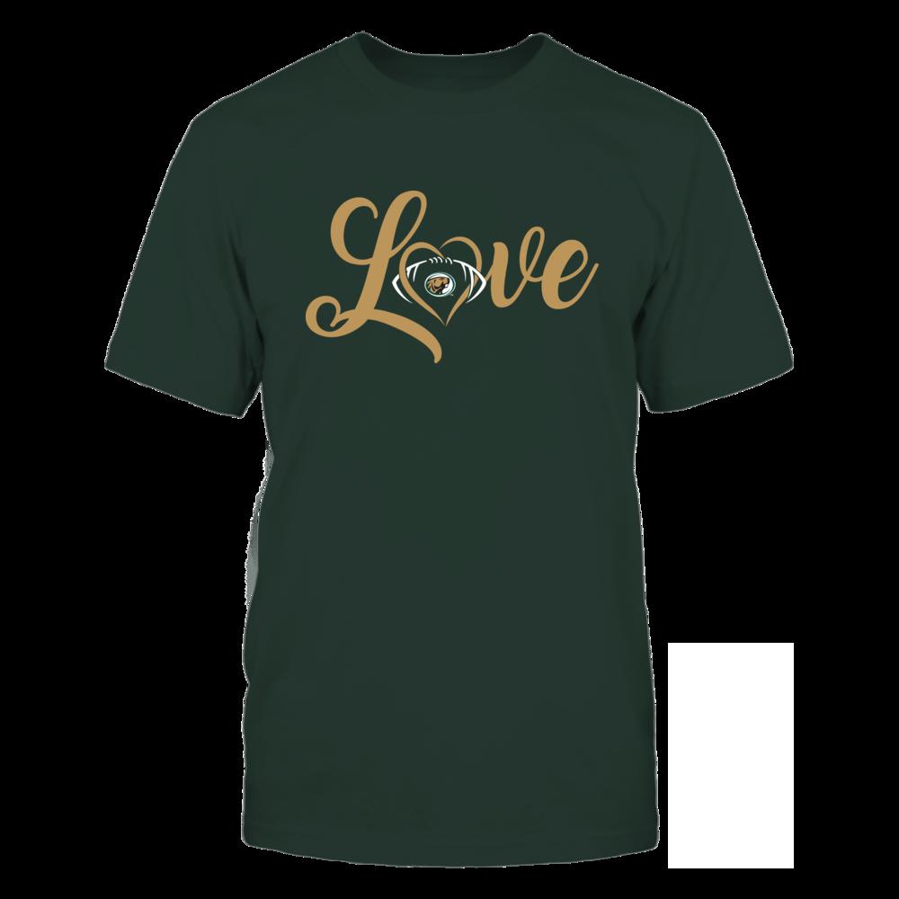 Bemidji State Beavers - Love Heart - Football - Team Front picture