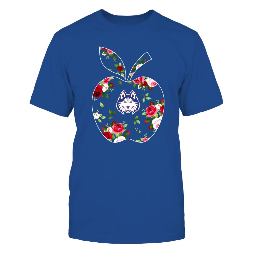 Houston Baptist Huskies - Teacher - Floral Apple - Team Front picture