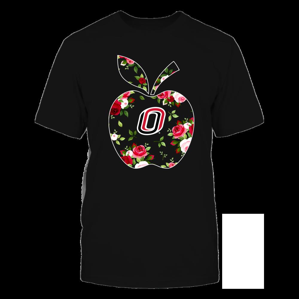 Nebraska Omaha Mavericks - Teacher - Floral Apple - Team Front picture