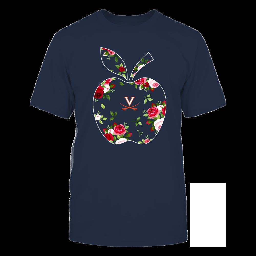 Virginia Cavaliers - Teacher - Floral Apple - Team Front picture
