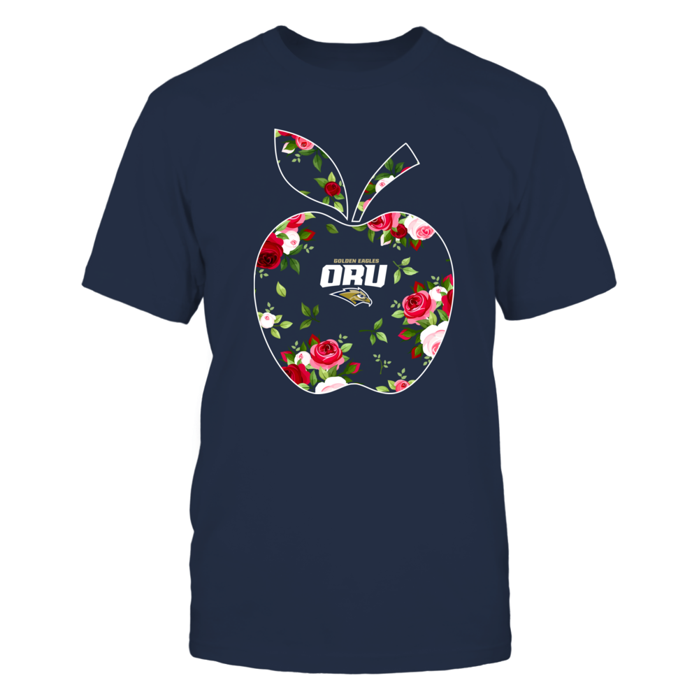 Oral Roberts Golden Eagles - Teacher - Floral Apple - Team Front picture