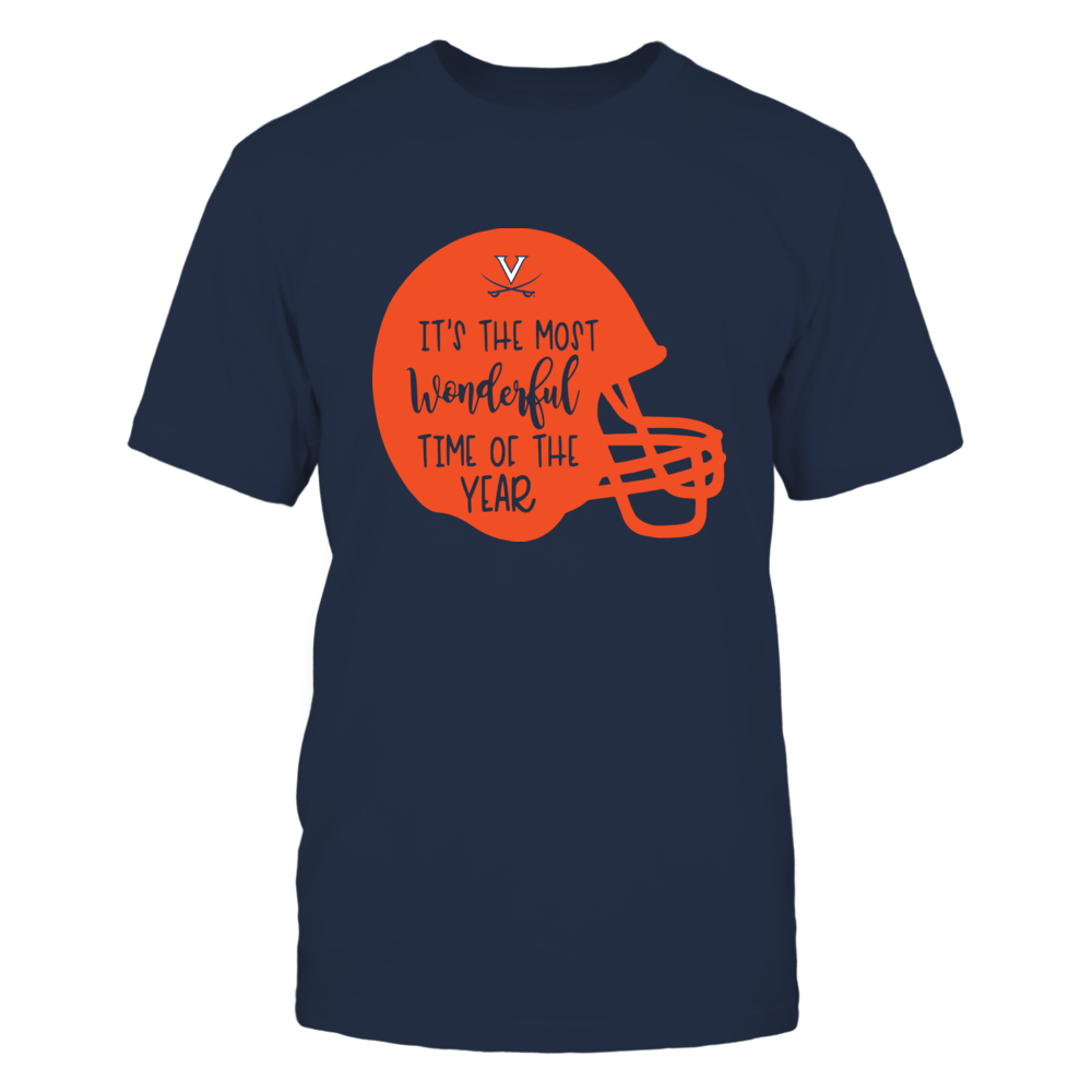 Virginia Cavaliers - Most Wonderful Time of the Year - Football Helmet Front picture