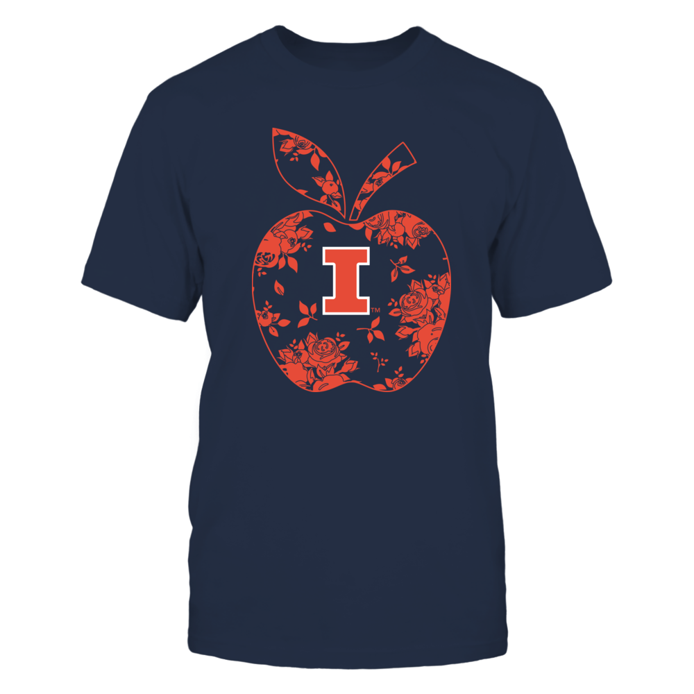 Illinois Fighting Illini - Teacher - Floral Apple - Team - Solid Front picture