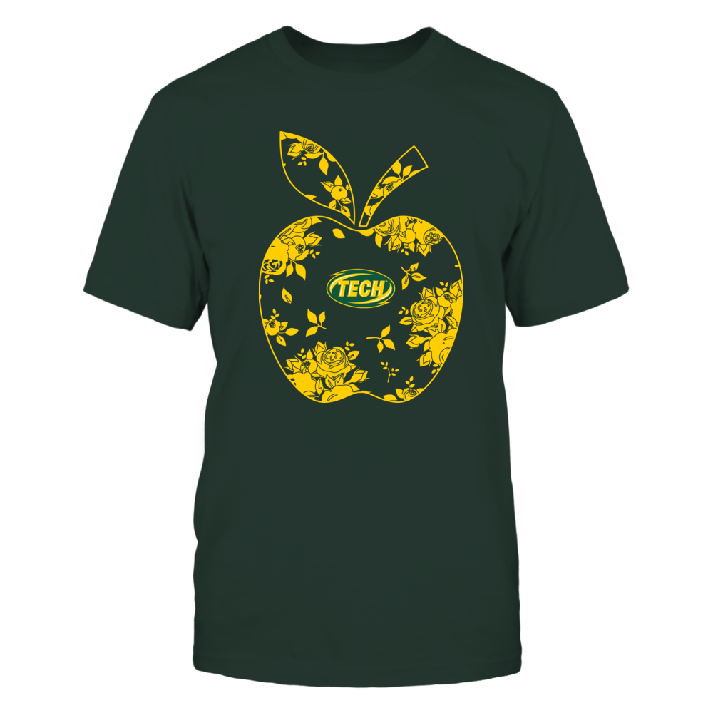Arkansas Tech Golden Suns - Teacher - Floral Apple - Team - Solid Front picture