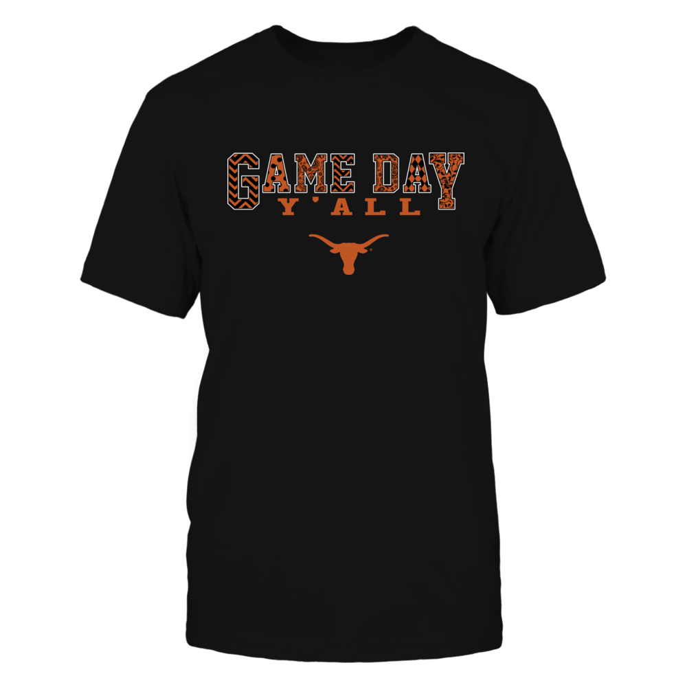 Texas Longhorns - Game Day Y'all Slogan Pattern - IF17-IC17-DS37 Front picture