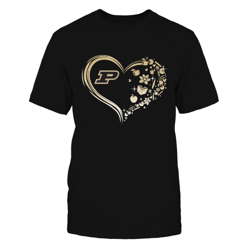 Purdue Boilermakers - Beautiful Heart - Teacher Things - IF13-IC13-DS75 Front picture