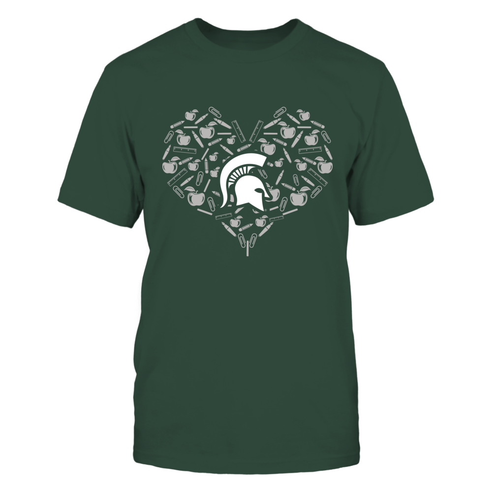 Michigan State Spartans - Heart of Teacher's Things - IF13-IC13-DS64 Front picture