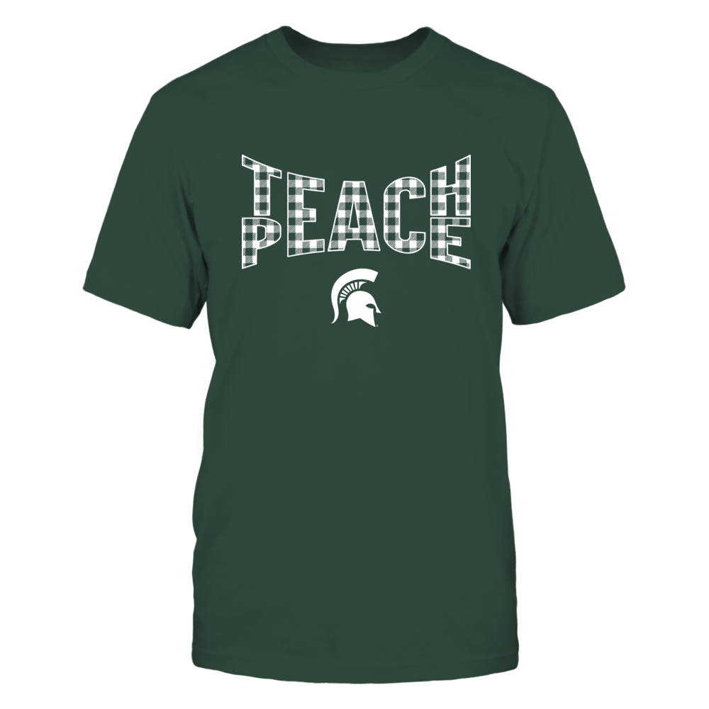 Michigan State Spartans - Teach Peace Checkered Pattern - IF17-IC17-DS45 Front picture