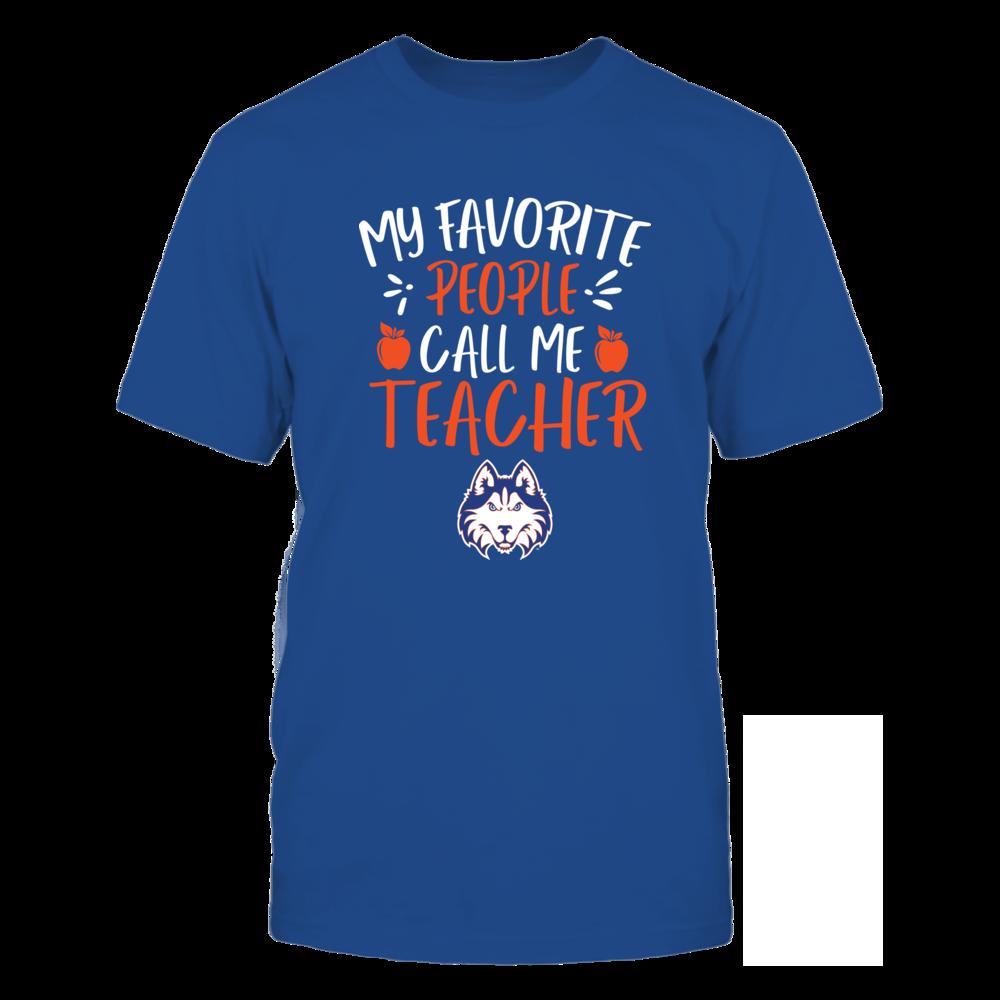 Houston Baptist Huskies - My Favorite People Call Me Teacher - Team Front picture