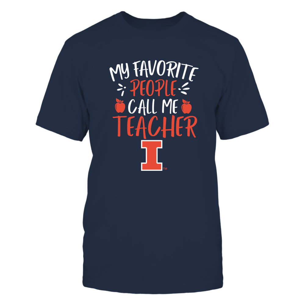 Illinois Fighting Illini - My Favorite People Call Me Teacher - Team Front picture