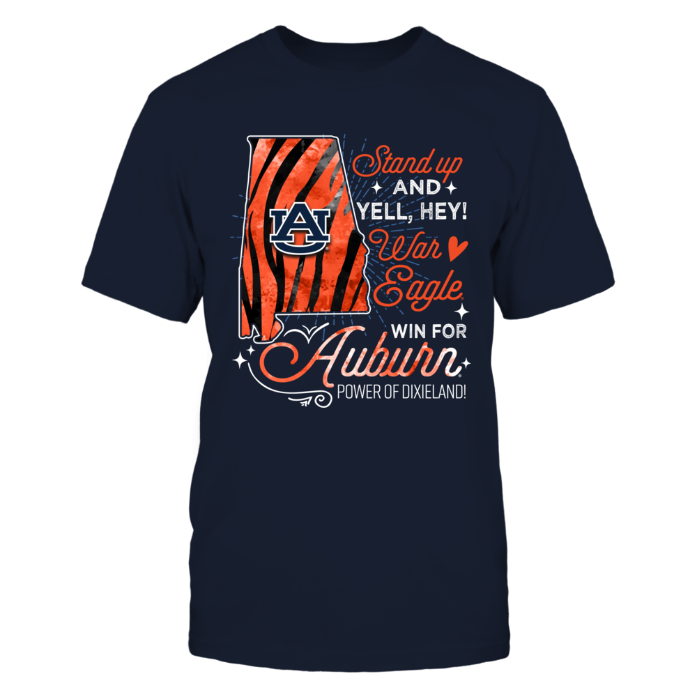 Auburn Tigers - Fight Song - State Map - Tiger Stripe - IF13-IC13-DS37 Front picture