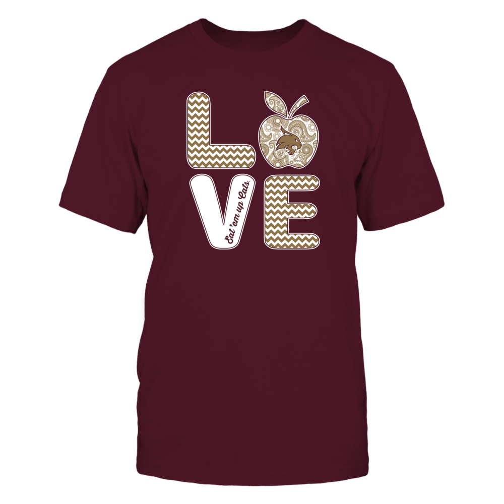 Texas State Bobcats - Teacher - Stacked Love Apple Slogan - IF17-IC17-DS45 Front picture