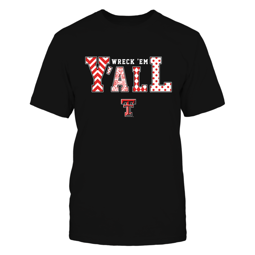 Texas Tech Red Raiders - Team Slogan - Y'all - Patterned  - IF13-IC13-DS45 Front picture