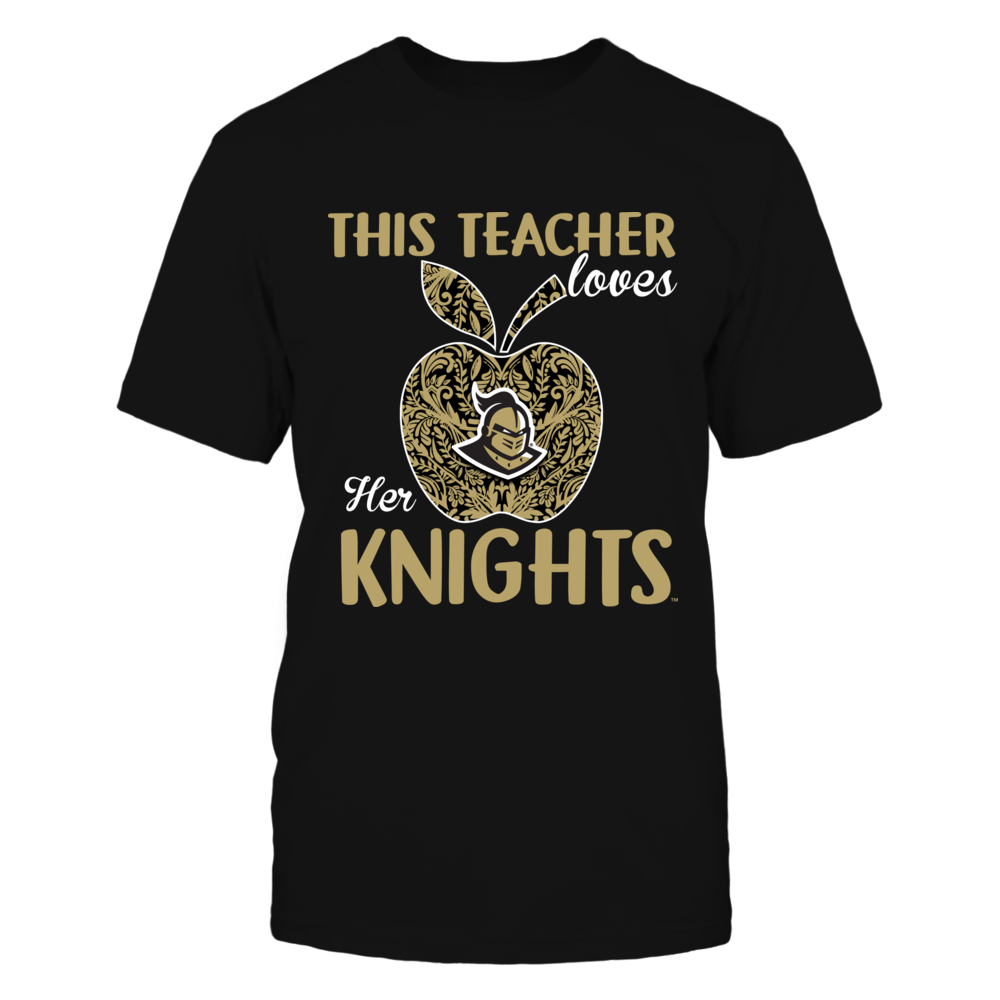 UCF Knights - This Teacher Loves Her Team - Lace Apple - IF13-IC13-DS27 Front picture
