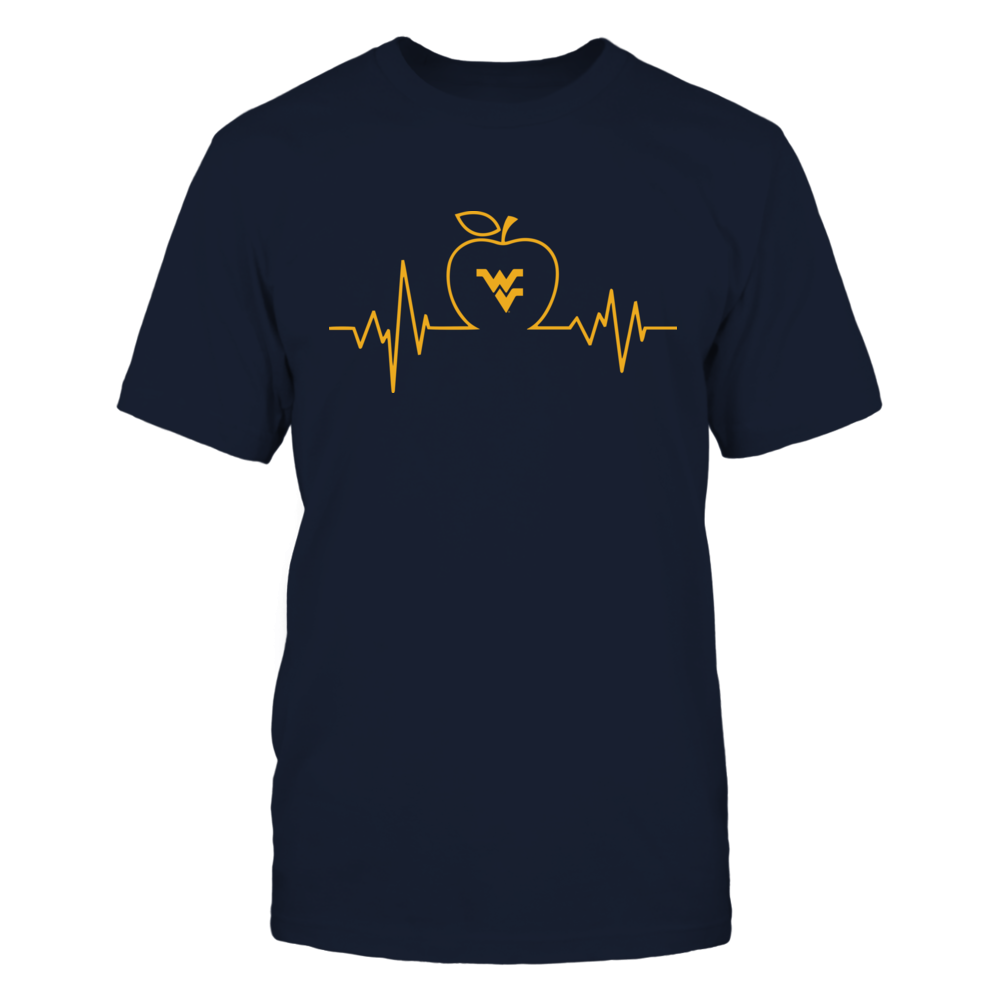 West Virginia Mountaineers - Teacher - Apple Heartbeat - IF13-IC13-DS75 Front picture
