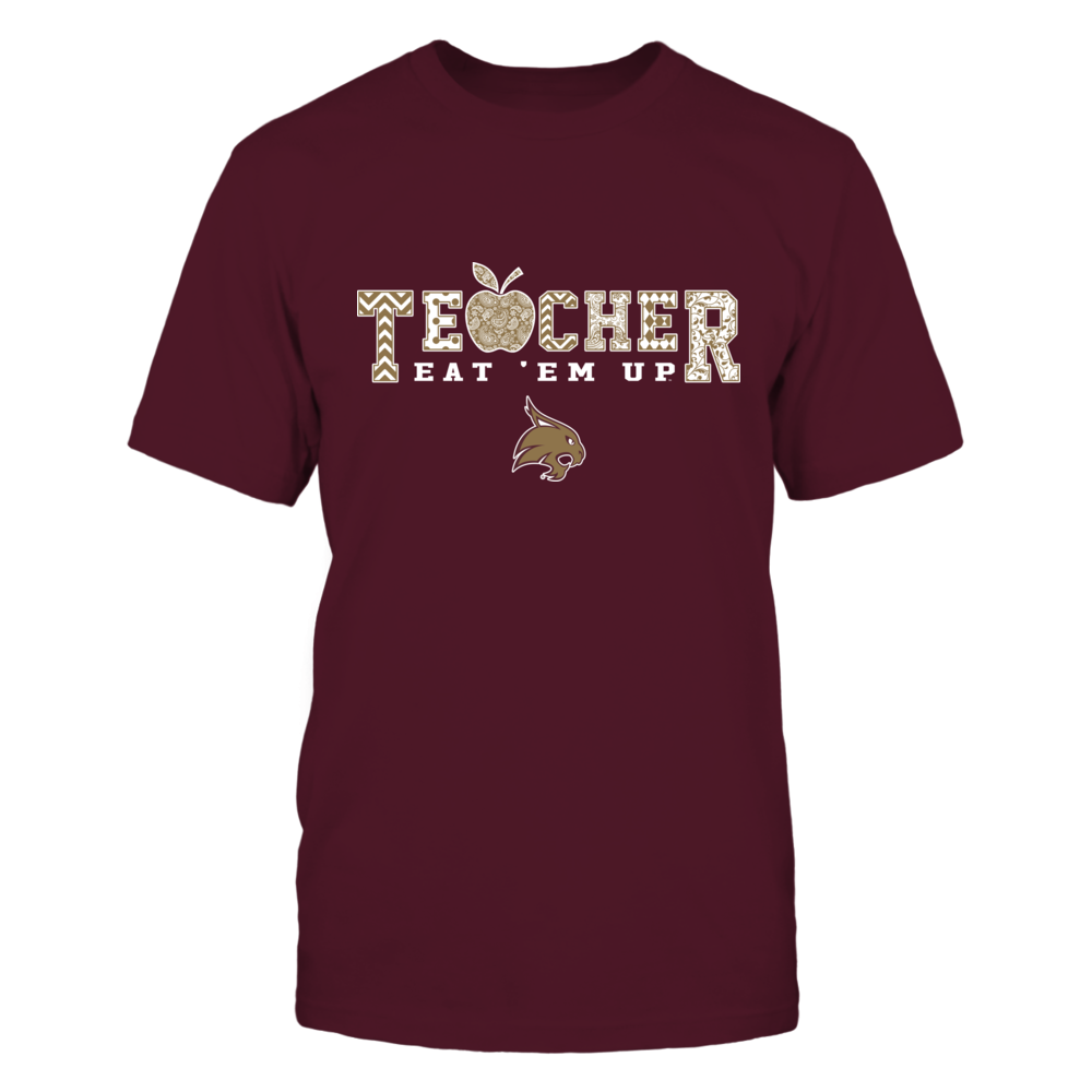 Texas State Bobcats - Teacher Apple Slogan Pattern - IF17-IC17-DS37 Front picture