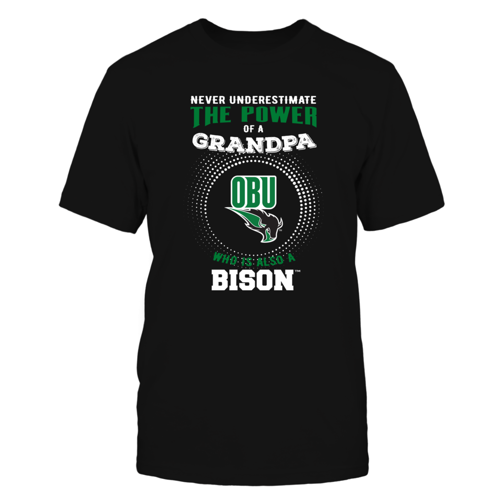 Oklahoma Baptist Bison - Never Underestimate - Power of Grandpa Front picture