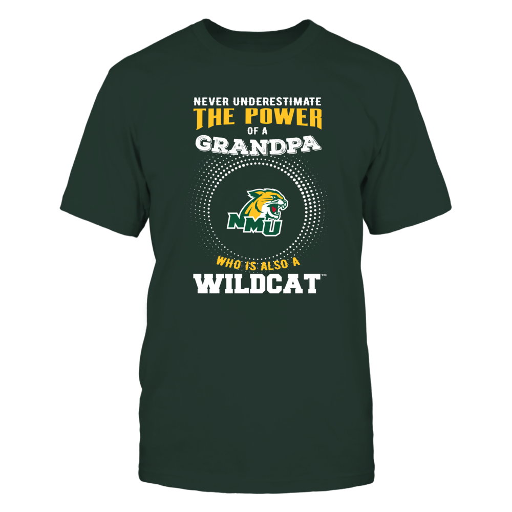 Northern Michigan Wildcats - Never Underestimate - Power of Grandpa Front picture