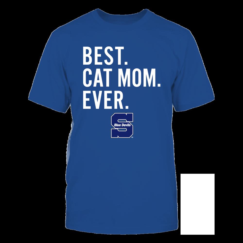 Wisconsin Stout Blue Devils - Best Cat Mom - Team Front picture