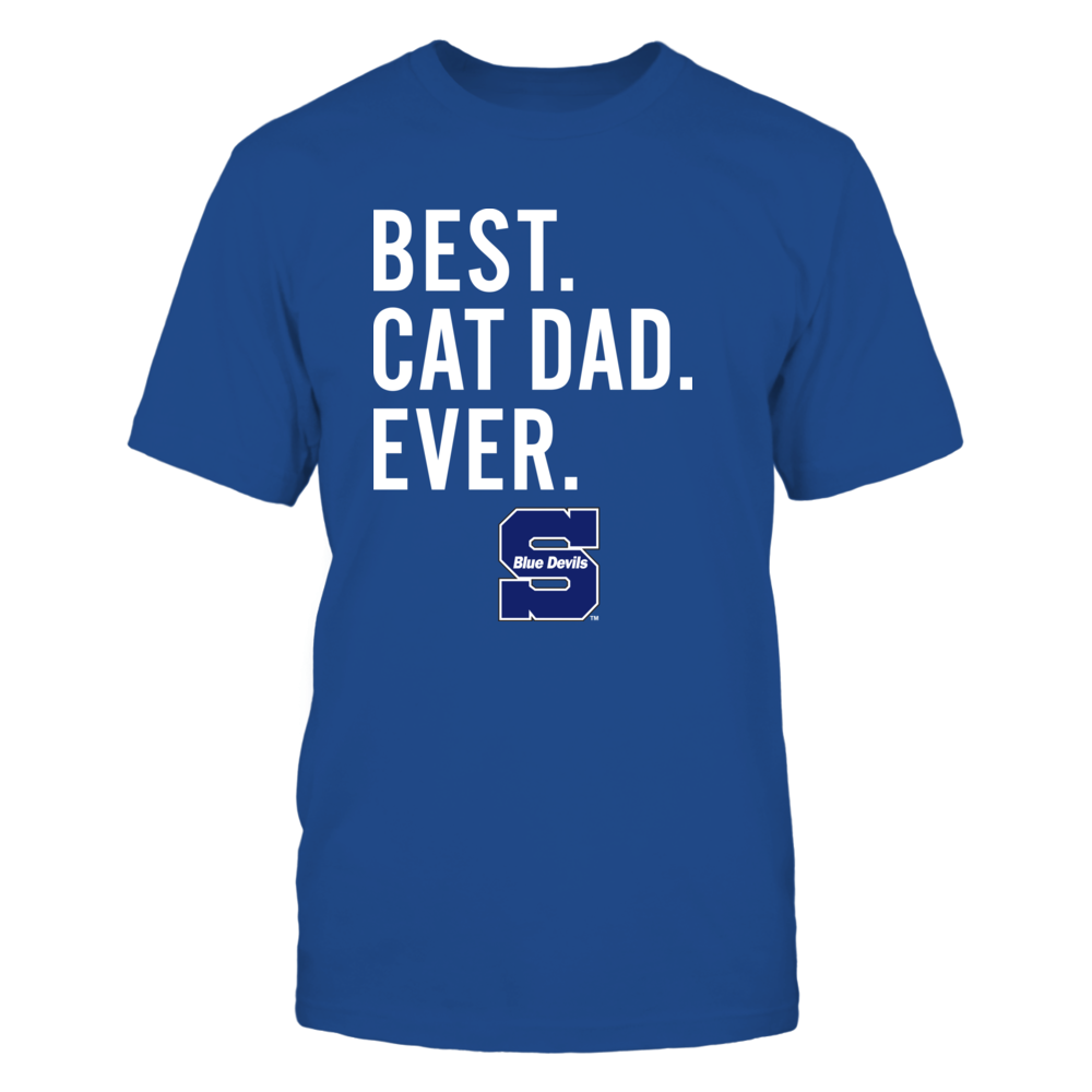 Wisconsin Stout Blue Devils - Best Cat Dad - Team Front picture