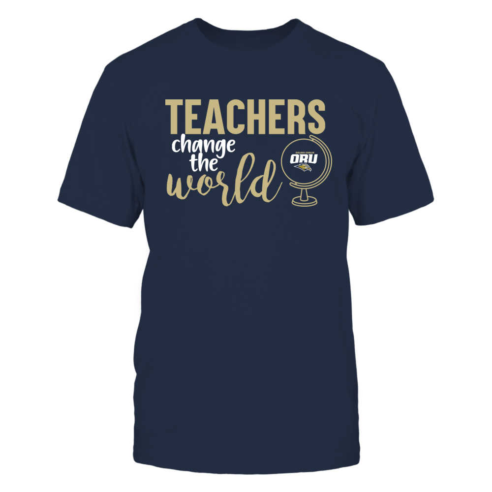 Oral Roberts Golden Eagles - Teachers Change the World Front picture