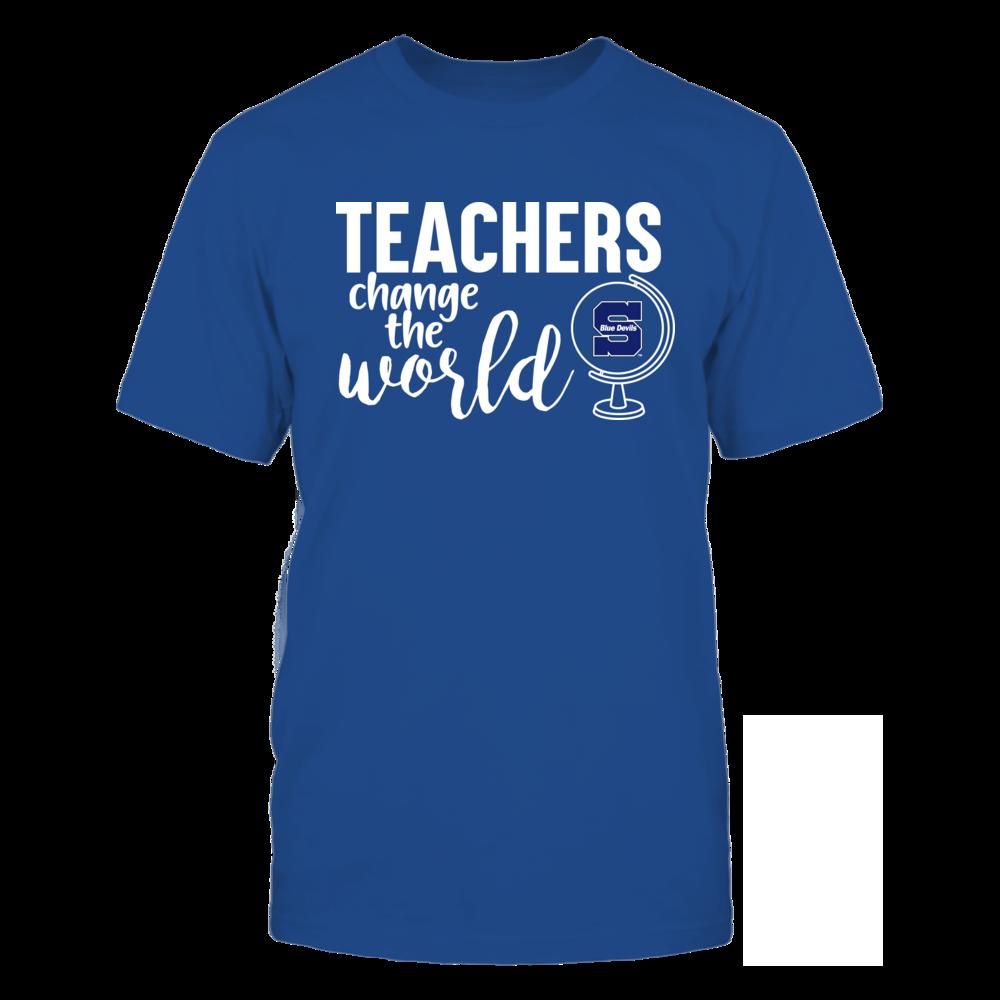 Wisconsin Stout Blue Devils - Teachers Change the World Front picture