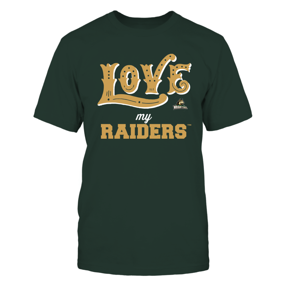 Wright State Raiders - Love My Team - Hand Draw - Team Front picture