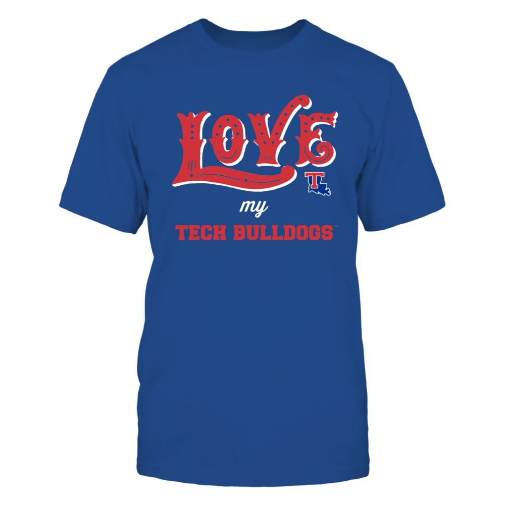 Louisiana Tech Bulldogs - Love My Team - Hand Draw - Team Front picture
