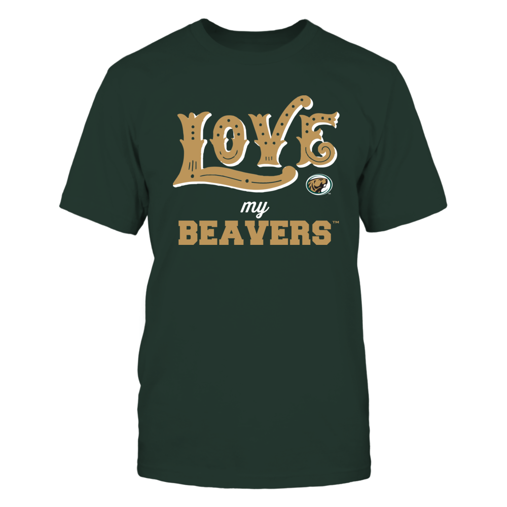 Bemidji State Beavers - Love My Team - Hand Draw - Team Front picture