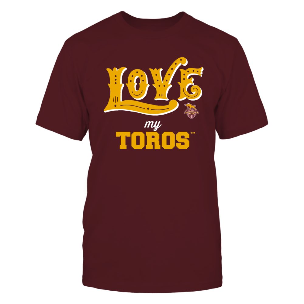 Cal State Dominguez Hills Toros - Love My Team - Hand Draw - Team Front picture