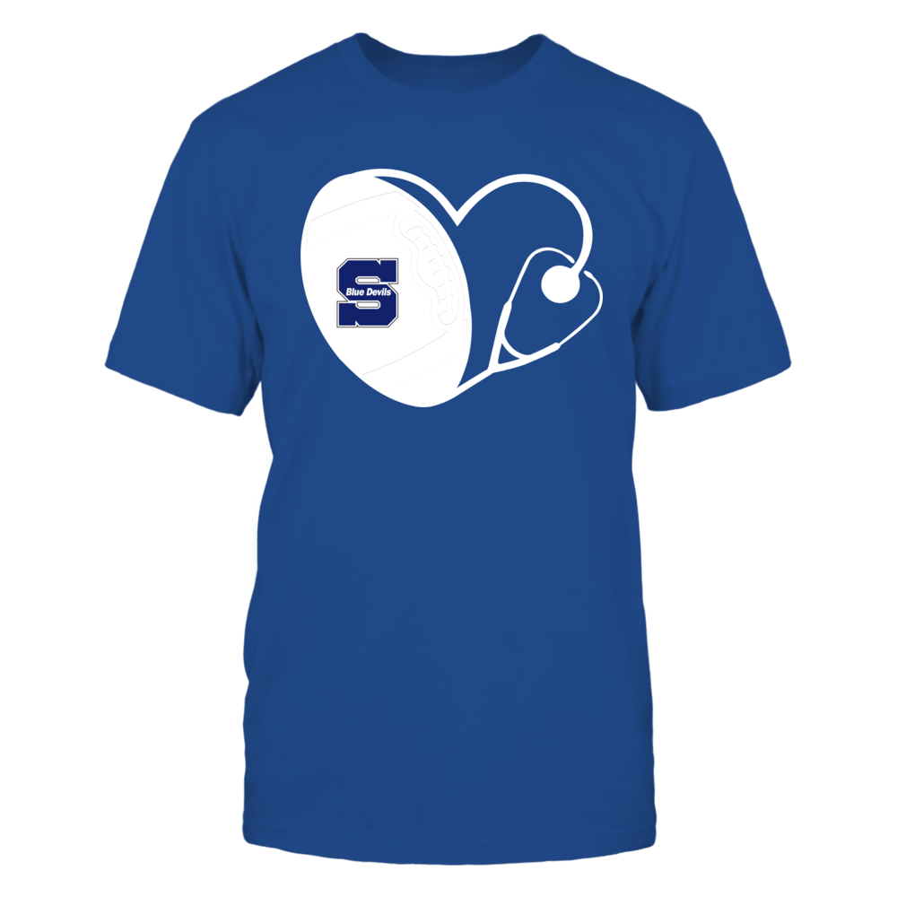 Wisconsin Stout Blue Devils - Nurse - Heart of Football Front picture