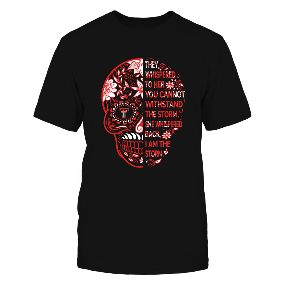 Texas Tech Red Raiders - Half Sugar Skull - I Am The Storm - IF-IC78-DS85 Front picture