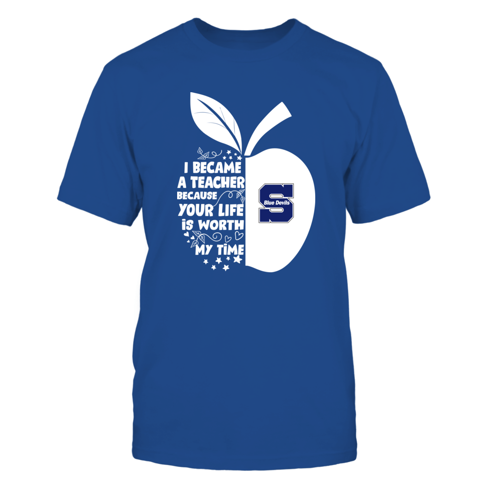 Wisconsin Stout Blue Devils - I Became - Teacher - Team  - IF-IC32-DS85 Front picture