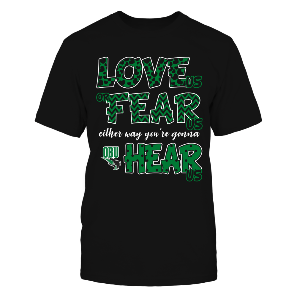 Oklahoma Baptist Bison - Love Us, Fear Us, Hear Us Front picture