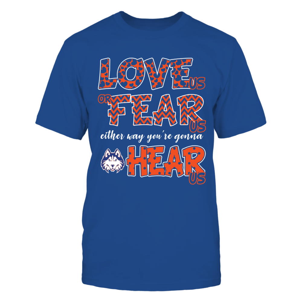 Houston Baptist Huskies - Love Us, Fear Us, Hear Us Front picture