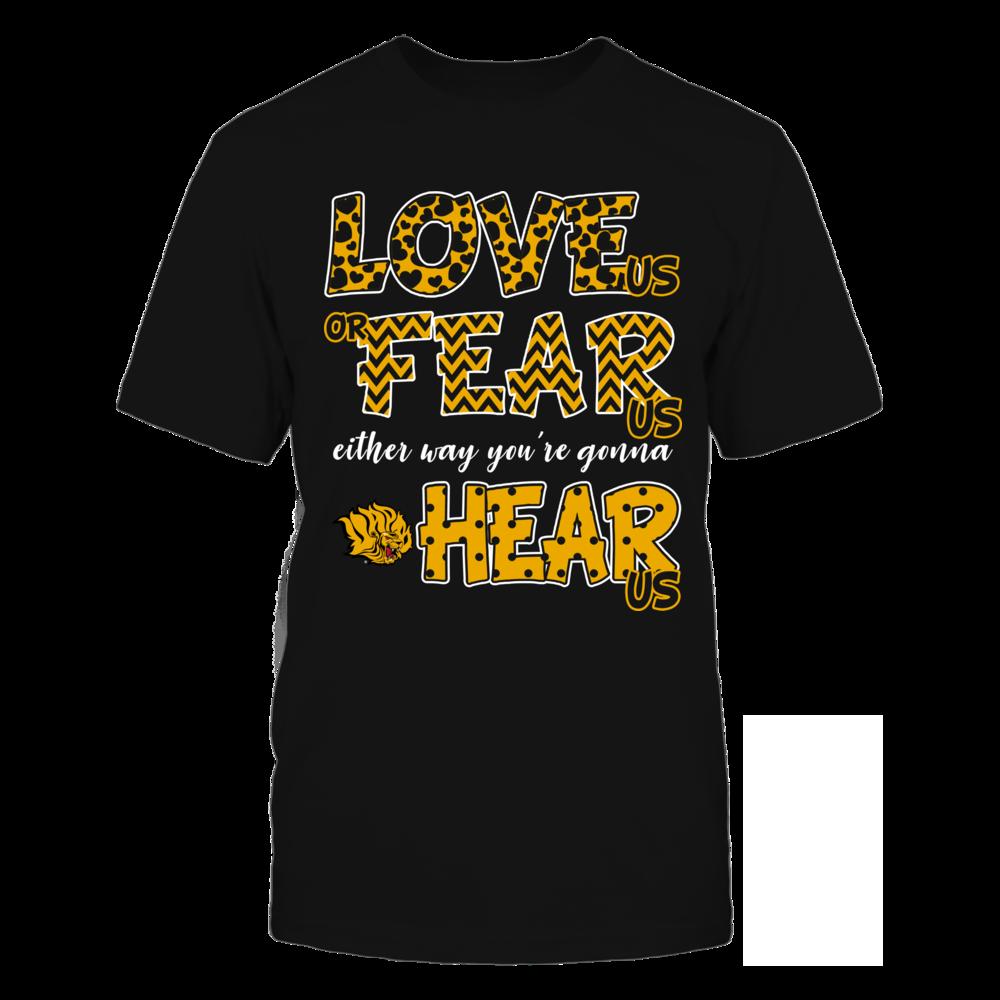Arkansas Pine Bluff Golden Lions - Love Us, Fear Us, Hear Us Front picture