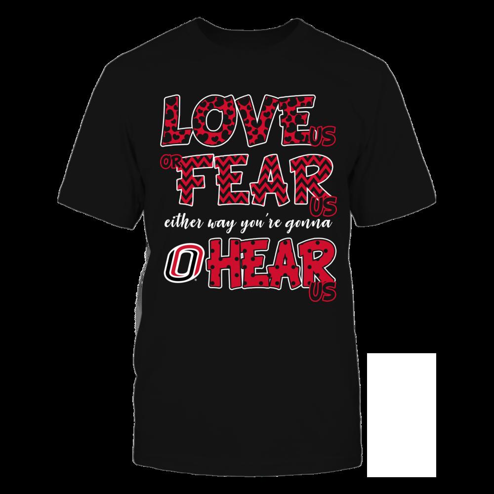 Nebraska Omaha Mavericks - Love Us, Fear Us, Hear Us Front picture