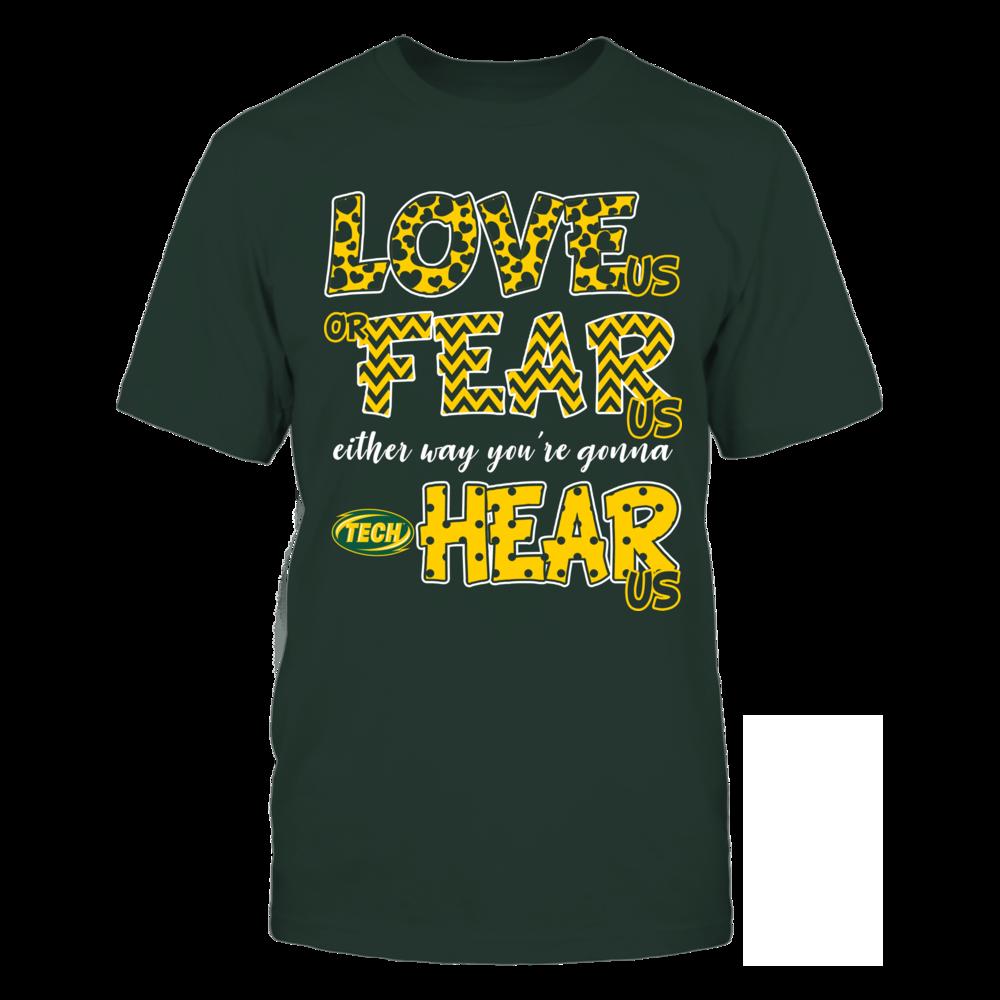 Arkansas Tech Golden Suns - Love Us, Fear Us, Hear Us Front picture