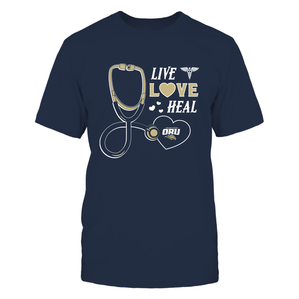 Oral Roberts Golden Eagles - Live Love Heal - Team Front picture