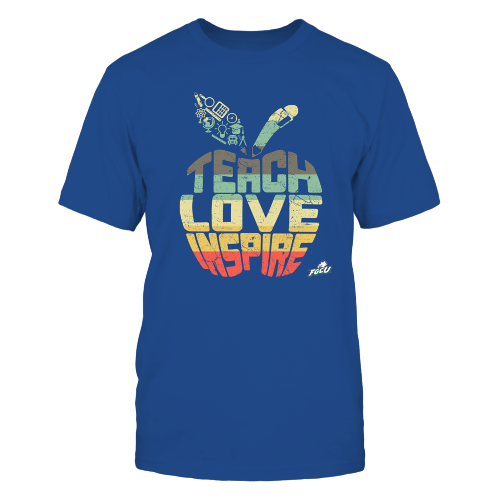 Florida Gulf Coast Eagles - Teach Love Inspire - Vintage Apple Front picture