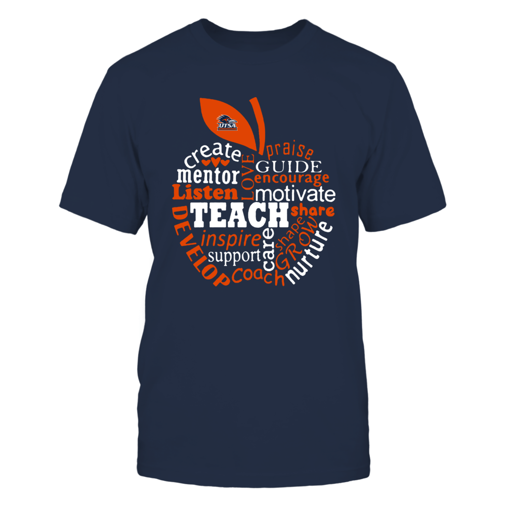 UTSA Roadrunners - Teacher - Teaching Quotes Inside Apple - IF-IC13-DS84 Front picture
