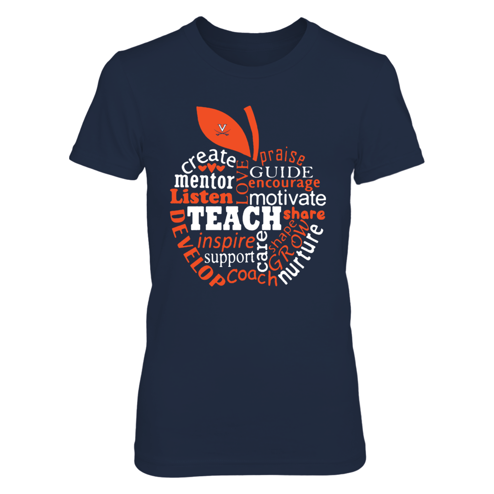 Virginia Cavaliers - Teacher - Teaching Quotes Inside Apple - IF-IC13-DS27 Front picture